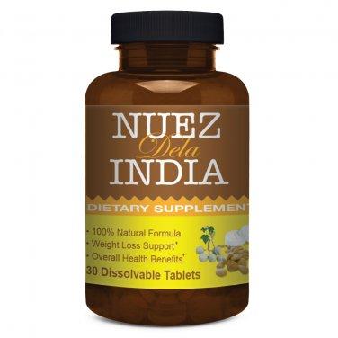 Nuez De La India 30 Dissolvable Tablets