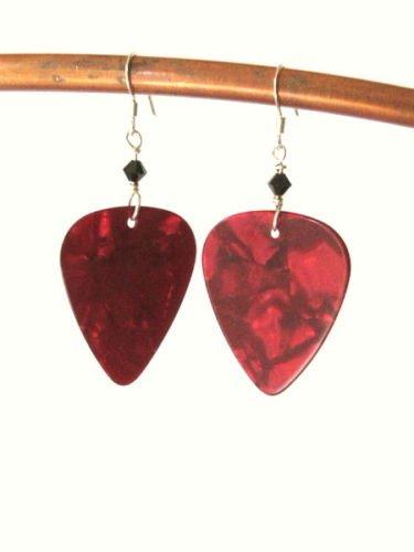 1 Pair Rocker Chic Guitar Pick Earrings-Pick your Color