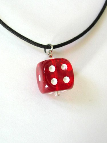 Dice Necklace 16mm Bunco Game Jewelry - Pick your Color