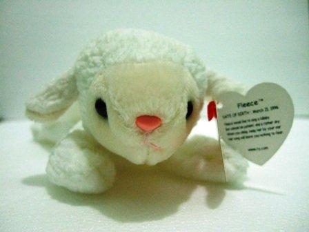 Ty - The Original - Beanie Baby - Fleece - Lamb - Plush Toys