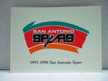 1997-1998 San Antonio Spurs NBA Basketball Team Photograph