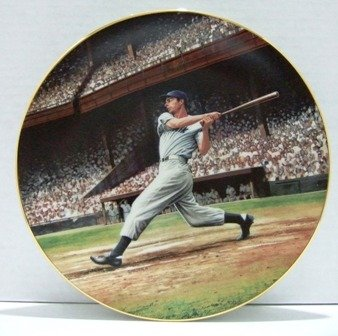 1993 - Bradford Exchange - Joe DiMaggio - THE STREAK - Collector's Plate