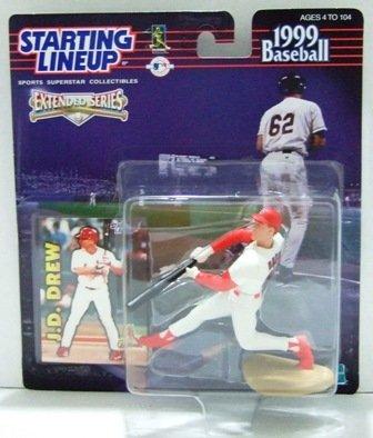 1999 - J D Drew - Action Figures - Starting Lineups - Baseball - Extended - Cardinals - Rookie Slu