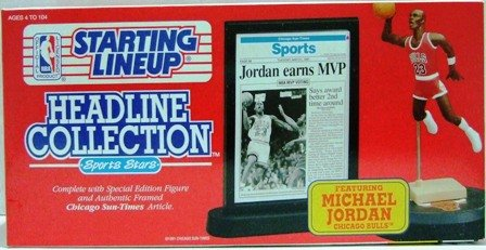 1992 - Michael Jordan - Action Figures - Starting Lineups - Headline - Basketball - Bulls