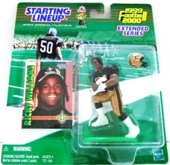 1999 - Ricky Williams - Action Figures - Starting Lineups - Extended Football - Saints