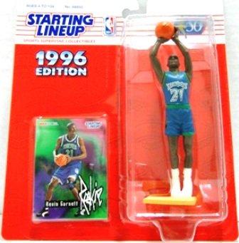 1996 - Kevin Garnett - Action Figures - Starting Lineups - Basketball - T-Wolves - Rookie Slu