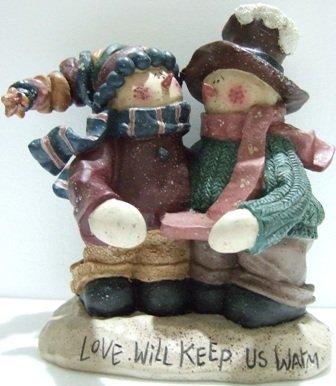 Snowman - Candle Holder - Figurine - Christmas