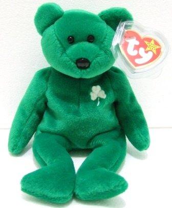 Ty - The Original - Beanie Baby - Erin - Green Bear - Plush Toys