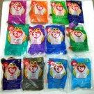 1993 - McDonalds - Ty - Beanie Babies - Complete Set 1-12 - Plush Toys
