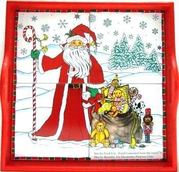Christmas - Santa With Toys -  Ceramic Tile Tray