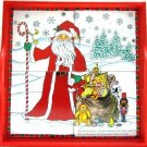 Christmas - Santa With Toys -  Ceramic Tile Tray
