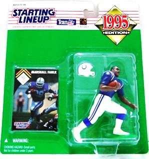 1995 - Marshall Faulk - Action Figures - Starting Lineups - Football - Colts - Rookie Slu