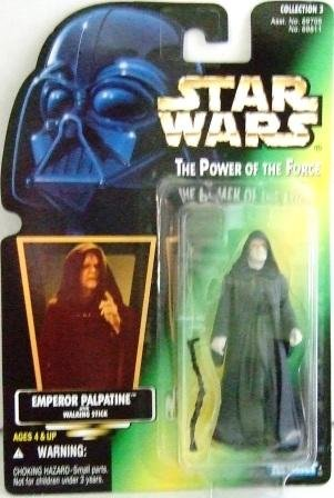 1996 - Emperor Palpatine - Action Figures - Star Wars - The Power of the Force - Green Card