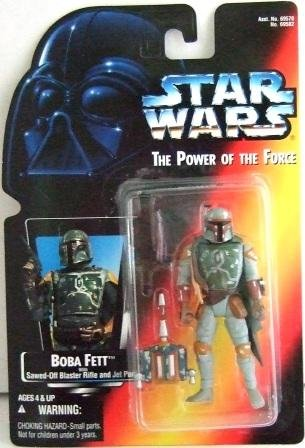 1995 - Boba Fett - Action Figures - Star Wars - The Power Of The Force - Red Card