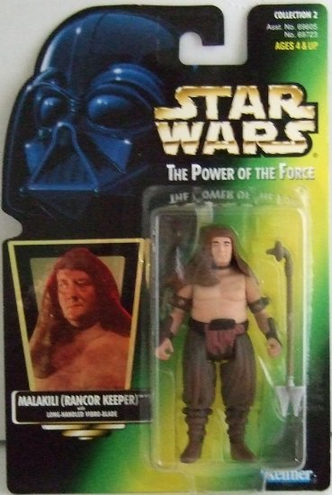 1997 - Malakili (Rancor Keeper) - Action Figures - Star Wars - The Power of the Force - Green Card