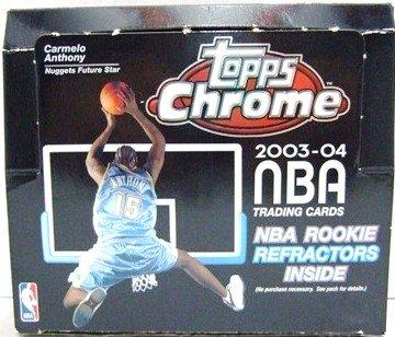(One) 2003-04 Topps Chrome NBA Basketball Sports Card Pack
