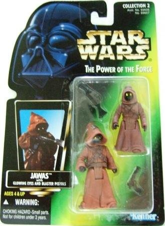 1996 - Jawas - Action Figures - Star Wars - The Power of the Force - Green Card