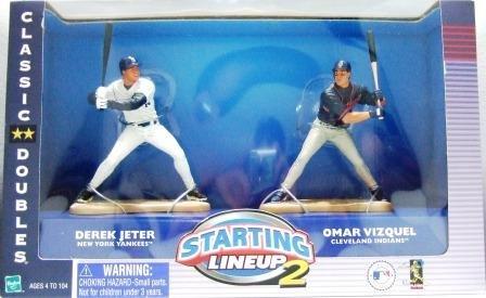 2001 - Derek Jeter / Omar Vizquel - Action Figures - Starting Lineups - Classic Doubles - Baseball