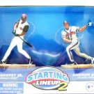 2001 - Ken Griffey Jr. / Andrew Jones - Action Figures - Starting Lines - Classic Doubles - Baseball