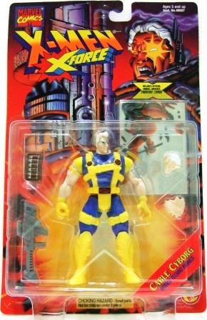 1995 - Cable Cyborg - Action Figures - Toy Biz -  Marvel Comics - X-Men - X-Force