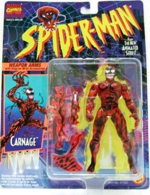 1994 - Carnage - Toy Action Figures - Toy Biz - Marvel Comics - Spider-Man - The New Animated Series