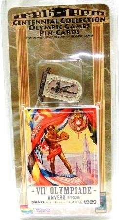 1896-1996 - Centennial Collection - Olympic Games Pin-Cards - Antwerp 1920