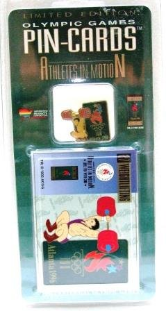 1896-1996 - Athletes In Motion - Olympic Game Pin-Cards - Weightlifting