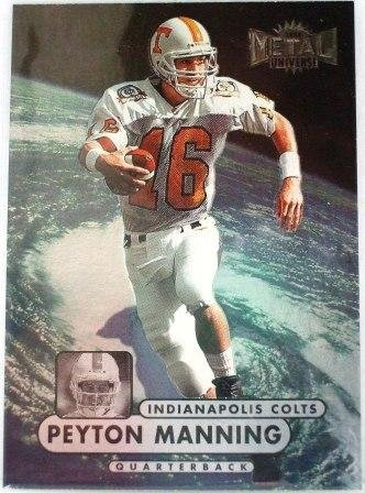 1998 - Peyton Manning - Skybox - Metal Universe - Rookie Card #189