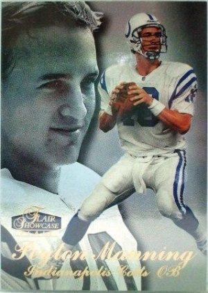 1998 - Peyton Manning - Fleer - Flair Showcase -Rookie Card