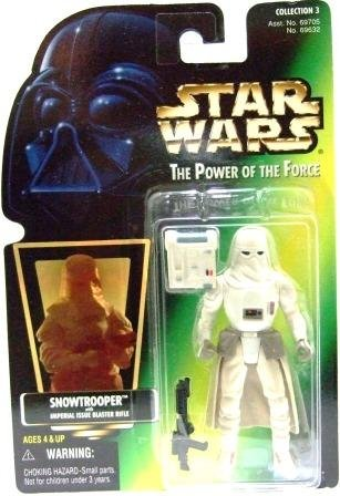 1997 - Snowtrooper - Action Figures - Star Wars - The Power of the Force - Green Card