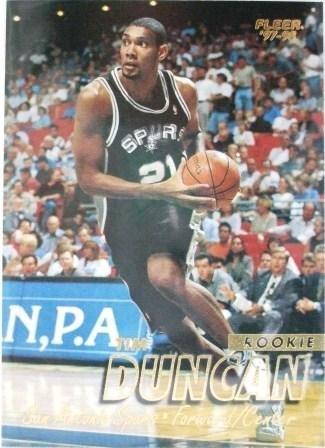 1997/98 - Tim Duncan - Fleer - NBA Basketball - San Antonio Spurs - Rookie Card #201