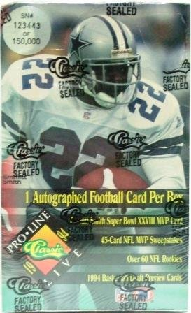 1994 - Classic - Pro Line - Live - NFL Football - Sports Cards