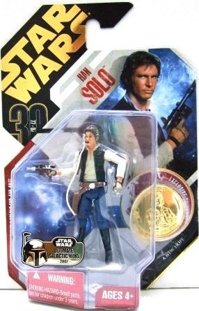 2007 - Han Solo - Action Figure - Hasbro - Star Wars - Ultimate Galactic Hunt - A New Hope