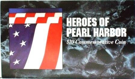1991 - The Heroes of Pearl Harbor - $10 Commemorative Coin