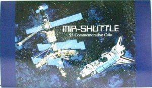 1995 - Republic of the Marshall Islands - MIR-Shuttle $5 Commemorative Coin