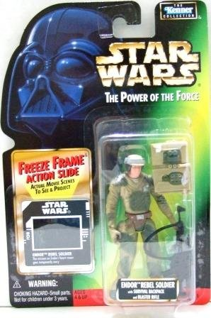 1997 - Endor Rebel Soldier - Action Figures - Star Wars - The Power of the Force - Freeze Frame