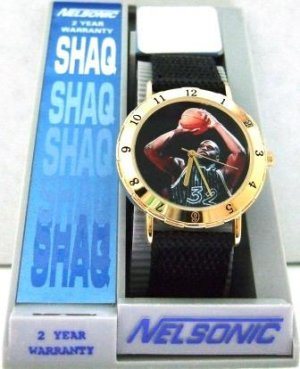 Shaquille O&#039;Neal - Mens - Black and Gold - Wrist Watch