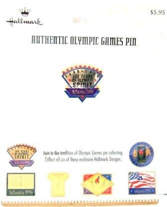 1896-1996 - Centennial - Hallmark - Atlanta - Olympic Spirit Pin - #1