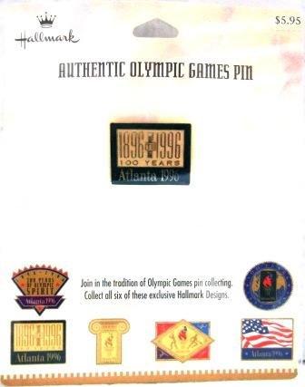 1896-1996 - Centennial - Hallmark - Atlanta - Green - Olympic Games Pin - #2