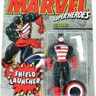 1994 - US Agent - Action Figures - Toy Biz - Marvel Super Heroes - Shield Launcher