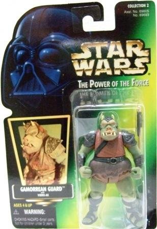 1997 - Gamorrean Guard - Action Figures - Star Wars - The Power of the Force - Green Card