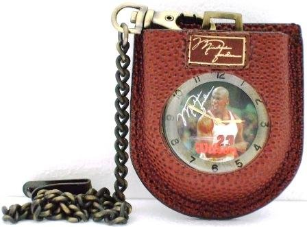 Michael Jordan #23 Bronze Pocket Watch With Leather Holder