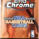 2002-03 Topps Chrome NBA Basketball Sports Card Pack
