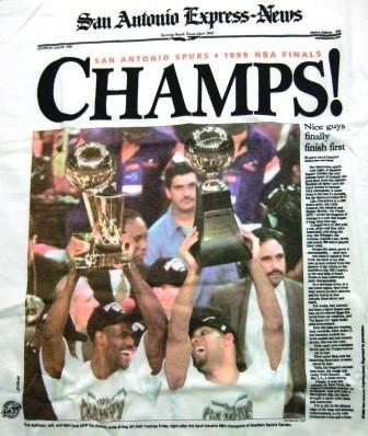 """1999 - NBA Finals - San Antonio Spurs - """"Champs"""" - T-Shirt"""