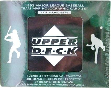 1992 - Upper Deck - Major League Baseball - Team MVP - Holographic - Card Set