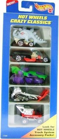 1996 - Mattel - Hot Wheels - 5 Car Gift Pack - Crazy Classics