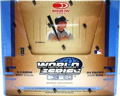 2004 Donruss World Series 04 Hobby Exclusive MLB Trading Cards Box