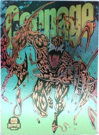 1994 - Marvel Cards - Universal - Spider-Man - Carnage - Power Blast - #1 of 9