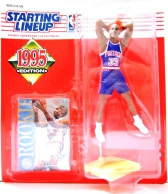 1995 - Grant Hill - Starting Lineups - Basketball - Pistons - Action Figures - Rookie Slu