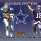 1999 - Roger Staubach & Tony Dorsett - Topps - Bowmans Best - Franchise Favorites - #F1